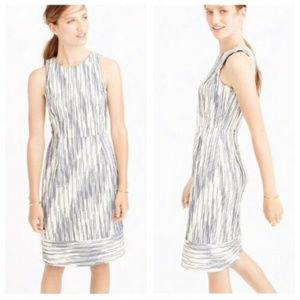 J Crew L 12 Italian Tweed Dress Sheath Sleeveless
